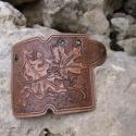 Bőr kulcstartó, Mindenmás, Kulcstartó, Bőrművesség, Marhabőrből készült, festett, lakkozott, kézi varrású kulcstartó.   Kérésre más mintával is elkészít..., Meska