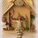Egyedi Ajándék Házikó - Angyalkás ajtódísz , Otthon, lakberendezés, Dekoráció, Famegmunkálás, Mindenmás, Angyalkás családi ajándék: ISTEN HOZOTT  Az ajtódísz őrangyala őrködik a  ház lakói fölött.    Mére..., Meska