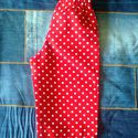 Tölcsért csinálok a zsebemb?l, Baba-mama-gyerek, Ruha, divat, cip?, Gyerekruha, Kisgyerek (1-4 év), Piros pöttyös, vékony vászon hosszúnadrág, kevertszálas anyagból készült, méretes, tölcsér alakú zse..., Meska