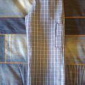 Kék-fehér kockás gyereknadrág, 122-es méret, uniszex, Ruha, divat, cipő, Gyerekruha, Gyerek (4-10 év), Varrás, Uniszex gyereknadrág, 122-es méretben, kockásan szövött mintás vászonból, sötétkék-kék-fehér színös..., Meska
