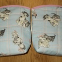 Kutyák és cicák neszeszer páros, Baba-mama-gyerek, Táska, Neszesszer, Két darab, kutya és cicamintás vászonból készült, nagyméretű neszeszer. Az egyik osztatlan belül, a ..., Meska