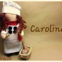 Caroline, Játék, Baba játék, Plüssállat, rongyjáték, Báb, Baba-és bábkészítés, Varrás, Drága Caroline  23 cm magassággal született! Imádom a hajnali friss kenyér illatát..Nincs annál job..., Meska