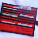 Piros, cicusos 14 rekeszes irattartó pénztárca, Táska, Ruha, divat, cipő, Pénztárca, tok, tárca, Pénztárca, Varrás, Patchwork, foltvarrás, Napjainkban már jópár kártyára van szükségünk,ha ezeket rendszerezetten tárolva szeretnéd magaddal ..., Meska