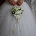 Exkluzív menyasszonyi csokor, Esküvő, Esküvői csokor, Esküvői dekoráció, Virágkötés, Csodaszép és különleges, mint az a menyasszony aki remélhetőleg ezt a csokrot válassza. Teljesen eg..., Meska