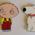 Stewie és Brian hűtőmágnes szett, Dekoráció, Otthon, lakberendezés, Dísz, , Meska
