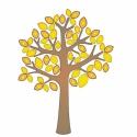 Falmatrica , faldekoráció gyerekszobába Fa arany levelekkel INGYEN szállítással, Dekoráció, Baba-mama-gyerek, Falmatrica, Gyerekszoba, Fotó, grafika, rajz, illusztráció, Az ár a képen látható falmatrica szettet tartalmazza 115x130 cm méretben, INGYENES szállítással ára..., Meska