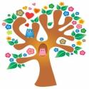 Falmatrica , faldekoráció gyerekszobába Baglyos Fa INGYENES szállítással , Dekoráció, Baba-mama-gyerek, Gyerekszoba, Falmatrica, Fotó, grafika, rajz, illusztráció, Baglyos fa tarka virágokkal   Az ár a képen látható falmatricát tartalmazza 120x120 cm méretben, ár..., Meska