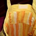 """A különlegességet kedvelőknek!!""""Virágcsokor""""Egyedi  női vászon táska,szatyor,sárga., Táska, Mindenmás, Ruha, divat, cipő, Válltáska, oldaltáska, Varrás, Kötés, Vastagabb vászonból készült táska,selyem béléssel. Belül cipzárral zárható zsebe van. Hátoldalán ci..., Meska"""