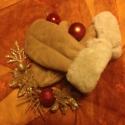 Irha kesztyú AKCIÓ dec.25.ig, Ruha, divat, cipő, Kendő, sál, sapka, kesztyű, Kesztyű, Varrás, Közeledik a karácsony és úgy gondolom hasznos szép ajándék a fa alatt, ez a pihe- puha kesztyű. Bár..., Meska