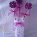 Hófehér horgolt váza, Dekoráció, , Meska