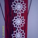 Fehér horgolt virágos függő, Dekoráció, , Meska