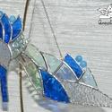 Hamupipőke Üvegcipő kék, Dekoráció, Ruha, divat, cipő, Dísz, Cipő, papucs, Üvegművészet, Tiffany technikával, üvegből készültek a Hamupipőke cipők. Bár nincs mindig báli szezon :-) de lehe..., Meska