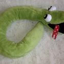 Plüss kígyó 120cm, Játék, Otthon, lakberendezés, Plüssállat, rongyjáték, Lakástextil, Varrás, Bohókás kedves nagyméretű Kígyó gyermekjáték vagy huzatfogó ablakokba.    Mérete: 16 x 120 cm   Kb...., Meska