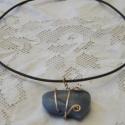 Nyugalom , Ékszer, óra, Nyaklánc, Ékszerkészítés, A lánc elkészítésénél egy kék aventurin kristály szívet használtam fel.   Mérete: 4 cm. x 3 cm.  A ..., Meska