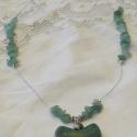 Reménység , Ékszer, óra, Nyaklánc, Ékszerkészítés,  A láncot, zöld aventurinból készítettem.  A nyaklánc 47 cm. hosszú.   Gyógyító szempontból a zöld ..., Meska
