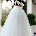 Tüll  szoknya, Esküvő, Menyasszonyi ruha, Varrás, A képen látható csodásan  szép  tüll szoknya a szoknya felső tüll rétege 4 réteg fátyol tüllből van..., Meska