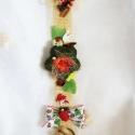 Katicabogaras függő, ajtóra vagy falra ! !, Otthon, lakberendezés, Dekoráció, Húsvéti apróságok, Virágkötés, Katicabogaras függő, ajtóra vagy falra!  Szalagokkal, virágokkal, termésekkel, katicabogárral díszí..., Meska