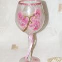 Kecses, virágmintákkal dekorált mécsestartó-kehely !, Dekoráció, Otthon, lakberendezés, Dísz, Kaspó, virágtartó, váza, korsó, cserép, Virágkötés, Kecses, virágmintákkal dekorált mécsestartó-kehely!  Szülinapra/névnapra is egy szép ajándék lehet!..., Meska