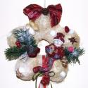 AKCIÓ! Hóemberes, vidám, kis kopogtató , ajtóra vagy falra !, Dekoráció, Otthon, lakberendezés, Karácsonyi, adventi apróságok, Ünnepi dekoráció, Virágkötés, AKCIÓ! Hóemberes, vidám, kis kopogtató az ünnepekre , sisal alapra, termésekkel, szalagokkal, kerám..., Meska