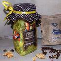 Univerzális konyhai üveg, ahogy én csinálom !, Konyhafelszerelés, Fűszertartó, Bögre, csésze, Kancsó , Decoupage, szalvétatechnika, Univerzális konyhai üveg, ahogy én csinálom !(kávénak, kakaónak, teafűnek,fűszereknek, méznek...) I..., Meska