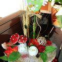 Baglyos, kosárkás asztaldísz ! AZONNAL VIHETŐ!, Otthon, lakberendezés, Dekoráció, Kaspó, virágtartó, váza, korsó, cserép, Ünnepi dekoráció, Virágkötés, Baglyos asztaldísz, szalmakosárkában, termésekkel dekorálva ! Lánykák szobájában is jól mutathat! A..., Meska