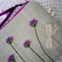 Mezei virágok - FlowerGarden  tarsoly, kézitáska, neszeszer, pipere tartó, Táska, Dekoráció, Pénztárca, tok, tárca, Neszesszer, Varrás, Hímzés, Tarsoly, kézitáska, neszesszer, piperetáska, kézzel készült színes mezei virágok motívummal, melyet ..., Meska