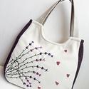 Levendula szerelem - nagy pakolós táska, válltáska, kézitáska