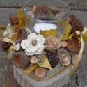Az ősz romantikája -vintage asztaldísz mécsessel, Dekoráció, Otthon, lakberendezés, Dísz, Gyertya, mécses, gyertyatartó, Virágkötés, Újrahasznosított alapanyagból készült termékek, Asztaldíszem kaspóját dohányos dobozból újrahasznosítással készítettem. A dohányos dobozt különböző..., Meska
