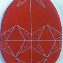 Húsvéti tojás EDÉNYFOGÓ, Konyhafelszerelés, Edényfogó, Varrás, A húsvéti tojásdíszítés adta az ötletet, hogy edényfogókra, írókázzam, az ősi erdélyi motívumokat.C..., Meska