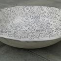 Apacuka ceramics nagy gyümölcsös tál, Dekoráció, Konyhafelszerelés, Kerámia, Apacuka ceramics nagy gyümölcsös tál. Az alja nincsen mázazva. Egyedileg, kézzel készült. Mérete: 3..., Meska