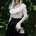 """""""Balerina""""-szoknya  - báli-miniszoknya, Ruha, divat, cipő, Női ruha, Estélyi ruha, Szoknya, Varrás,    Luxusminőségű jacquard hernyóselyemből készült körgloknis balerina-szoknya elasztikus csipkéből ..., Meska"""