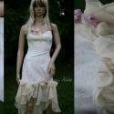 Blanka - romantikus koktélruha, Esküvő, Ruha, divat, cipő, Esküvői ruha, Menyasszonyi ruha, Varrás, Enyhén elasztikus, nyomott mintás pamutvászonból készült muszlinfodros romantikus koktélruha. Alter..., Meska