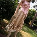 Vintage lolita - romantikus kétrészes - alternativ esküvői, Ruha, divat, cipő, Esküvő, Női ruha, Esküvői ruha, Varrás, Brokátmintás vászon-míder horgolt csipkével Szuper nőies darab,természetes anyagokból. Hátul fűzős,..., Meska