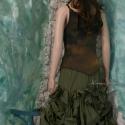 """""""Zora"""" - extravagáns designer-koktélruha, Ruha, divat, cipő, Női ruha, Estélyi ruha, Festett tárgyak, Varrás, Bohém nőknek ajánlom ezt a kétrészes-összeállításomat:  Kézzel foltosan festett gumírozott-selyem t..., Meska"""
