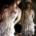 """""""Apocalyptic dolly"""" - extravagáns alternatív menyasszonyi ruha, Ruha, divat, cipő, Esküvő, Női ruha, Menyasszonyi ruha, Varrás,  Különleges stílusú ruhám azoknak a menyasszonyoknak ajánlom, akik mernek különbözni...  Egyedi dar..., Meska"""