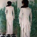 """""""Rheia"""" - alternatív-menyasszonyi ruha, Ruha, divat, cipő, Esküvő, Menyasszonyi ruha, Esküvői ruha, Varrás, Természetes anyagokból készült modellem korhatár nélkül ajánlom.  A két-részes alapja egy finom len..., Meska"""