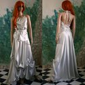 """""""Julietta"""" - menyasszonyi design- öltözet, Esküvő, Ruha, divat, cipő, Menyasszonyi ruha, Esküvői ruha, Festett tárgyak, Varrás, Különlegesen szép pasztell-színű,lágy-esésű krepp-szaténból terveztem ezt a kétrészes ruhát.  Hozzá..., Meska"""