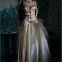 """""""Pandora"""" - fűző, Ruha, divat, cipő, Esküvő, Női ruha, Esküvői ruha, Varrás, XVIII. századi fűző általam modernizált változata.  Bútorvászonból készült, elöl-hátul fűzős, erőse..., Meska"""