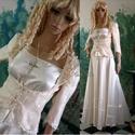 JULIE - menyasszonyi ruha, Esküvő, Ruha, divat, cipő, Esküvői ruha, Menyasszonyi ruha, Varrás, Elragadóan bájos kompozícióm kisméretű menyasszonyoknak:  - Harangszabású nehéz-szaténszoknya - leh..., Meska