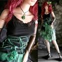 RAG-DOLLY / green - bohém fantáziaruha, Ruha, divat, cipő, Női ruha, Ruha, Estélyi ruha, Varrás, Selyemből és vékony jersey-ből készítettem ezt a kétrészes kreációm. Azoknak a nőknek ajánlom, akik..., Meska