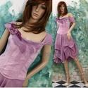 GEORGINA - korzetruha, Ruha, divat, cipő, Esküvő, Női ruha, Ruha, Varrás, Festett tárgyak, Különleges alkalmi ruhám romantikus Nőknek ajánlom, akik szeretik a természetes anyagok nyújtotta k..., Meska