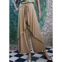 BAMBI - XL exkluzív szárongnadrág -  design-lapnadrág, Ruha, divat, cipő, Női ruha, Nadrág, Varrás, Különösen finom, lágy  szarvasbőr-imitációból készítettem ezt az elegáns lapnadrágom. Külleménél fo..., Meska