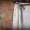 Aranyló-csillámló szoknya (tört fehér-arany), Ruha, divat, cipő, Női ruha, Szoknya, Varrás, Tavasztól kora őszig hordható, tört fehér színű, foltokban arannyal nyomott viszkóz muszlin szoknya..., Meska