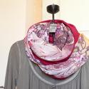 Rózsás-málnás csősál (lila-bordó-narancs), Ruha, divat, cipő, Kendő, sál, sapka, kesztyű, Sál, Női ruha, Varrás, Bordós-lilás-narancsos árnyalatú, rózsás könnyű viszkóz muszlinból és érdekes felületű, málnaszínű ..., Meska