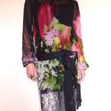 Tulipános tunikám (muszlin), Ruha, divat, cipő, Női ruha, Felsőrész, póló, Ruha, Varrás, Pillekönnyű muszlinból készült elegáns ruha/tunika, saját anyagából készült megkötős övvel.   Színe..., Meska
