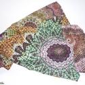 Kaleidoszkópsál., Ruha, divat, cipő, Kendő, sál, sapka, kesztyű, Sál, Női ruha, Varrás, Zöld-lila-narancs árnyalatú, mozgalmas mintás viszkóz muszlinból készült tavaszi-őszi csősál.  KÉRL..., Meska