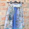 Ez egy szép, rózsás szoknya, romantikusoknak :-), Ruha, divat, cipő, Női ruha, Szoknya, Varrás, Tavasztól kora őszig hordható, libbenős kis viszkóz muszlin szoknya, gyönyörű színű rózsákkal, sajá..., Meska