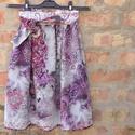 Pink-bordó, dús keleti mintás szoknya, Ruha, divat, cipő, Női ruha, Szoknya, Varrás, Tavasztól kora őszig hordható, libbenős kis viszkóz muszlin szoknya, gyönyörű keleti motívumokkal, ..., Meska