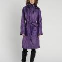 Világos lila esőkabát (régi kollekció), Ruha, divat, cipő, Női ruha, Kabát, Vízlepergető anyagból készült kapucnis esőkabát. Ha nem kell már, a kapucnijába fordítva táskává ala..., Meska