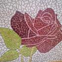 Kairo bíbor rózsája, Képzőművészet , Dekoráció, Otthon, lakberendezés, Mindenmás, Kerámia, Mozaik, Mázas kerámiából készült mozaik hálóra rakva (fugázatlan). Falra ragasztandó.  Méret: 1 m x 1 m  Te..., Meska